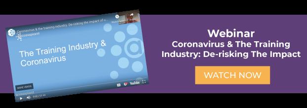 corona virus and the training industry webinar