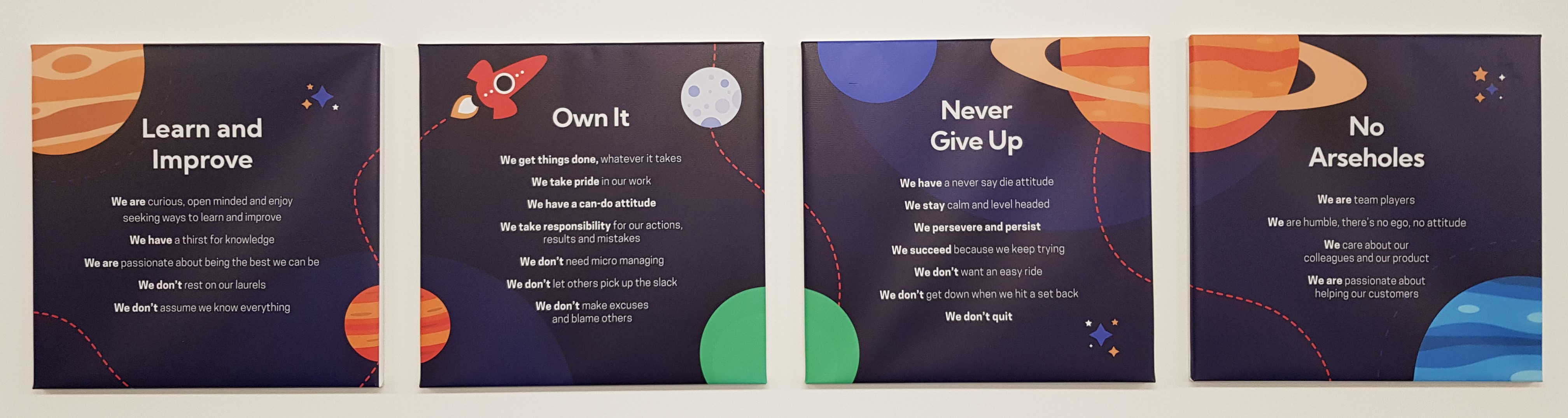 accessplanit company values on the wall