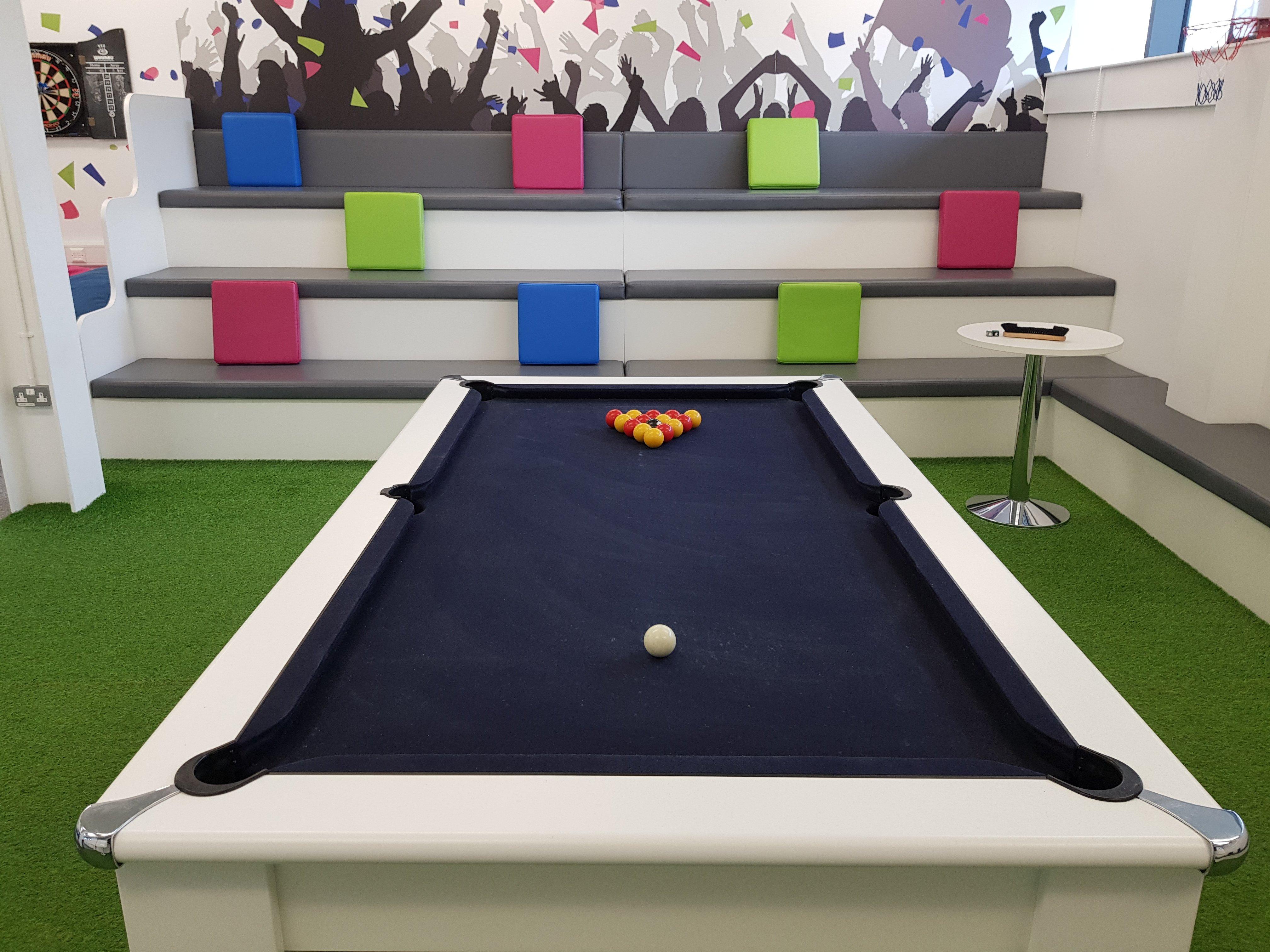 pool table at software company