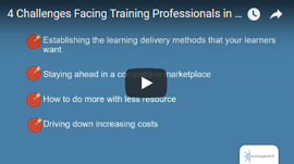 4 challenges facing training providers webinar cover image