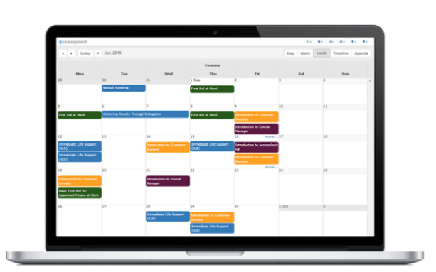software for internal training, calendar