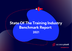 2021 Training Industry Benchmark Report cover graphic
