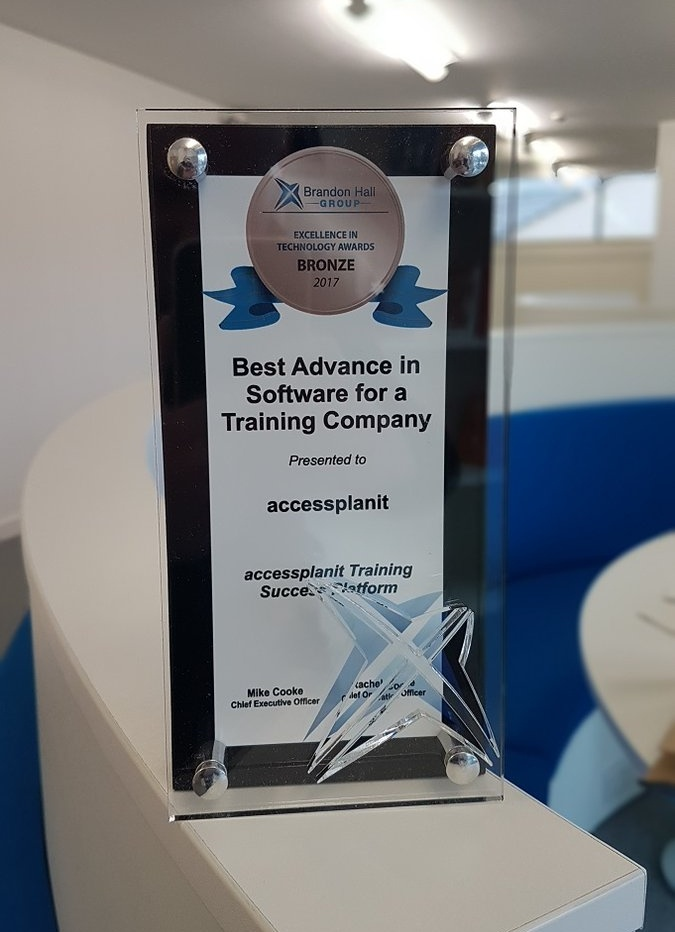 Brandon Hall Award for Best Advance in Software For a Training Company