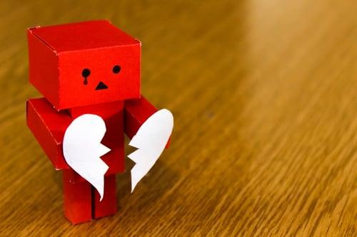 Broken hearted toy