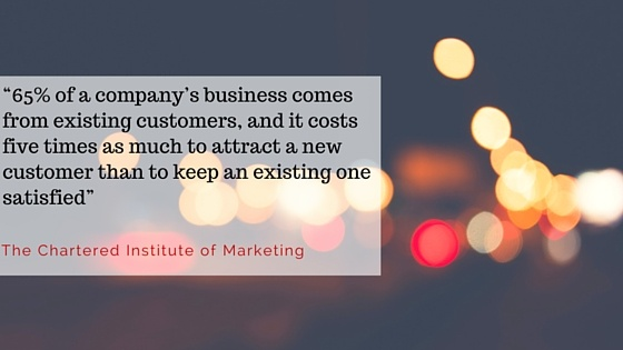 Chartered institute of marketing quote statistic repeat business