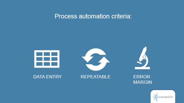 Process automation criteria