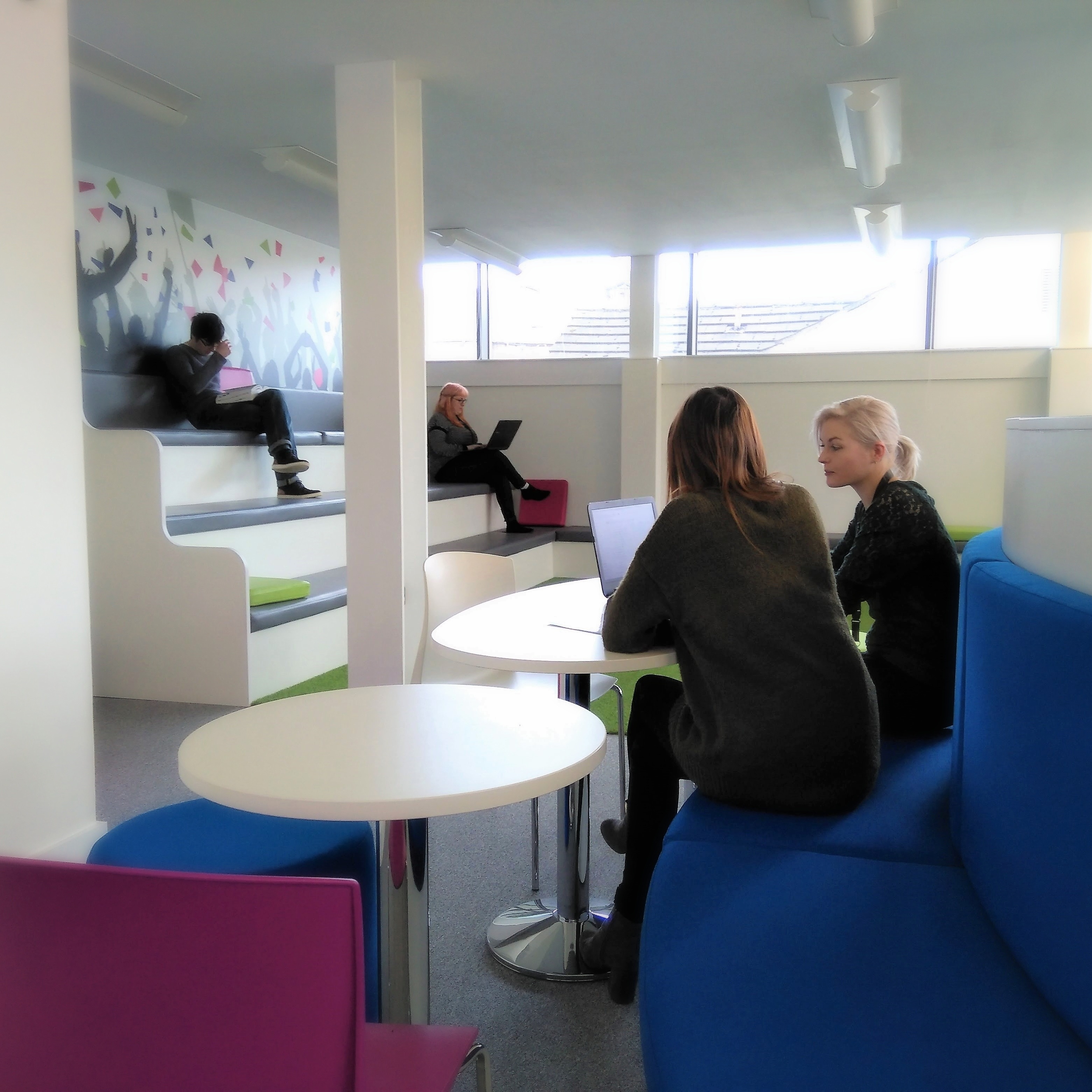 Team working in The Hub