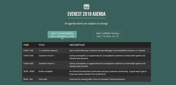 conference event listings