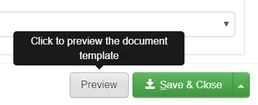 preview button for document templates
