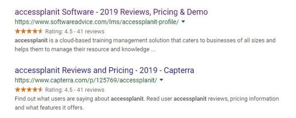 star ratings google
