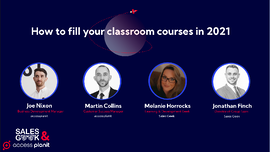 how to fill your classroom courses webinar panel