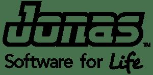 Jonas Software logo black and white