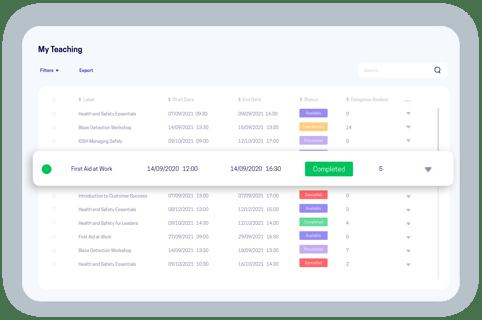 accessplanit trainer portal software screen
