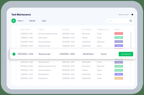 accessplanit task maintenance screen