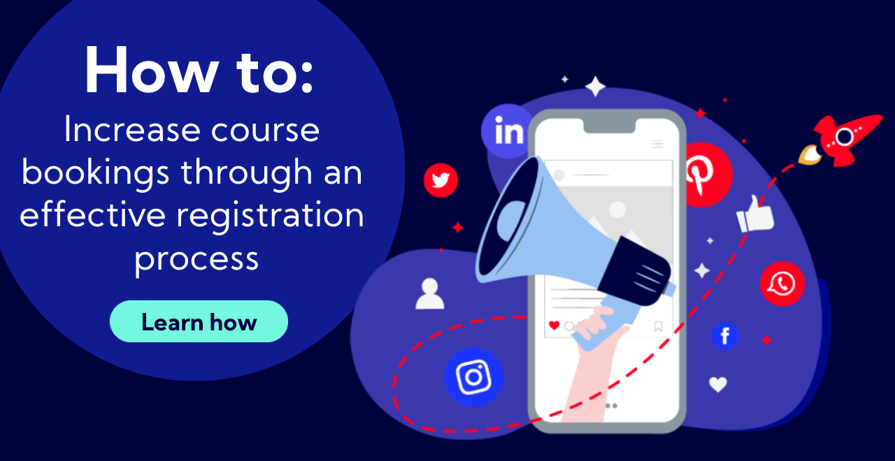 How to increase course bookings through an effective registration process cover graphic