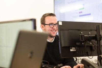 Matt happy working on accessplanits training management system
