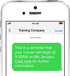 SMS course reminder