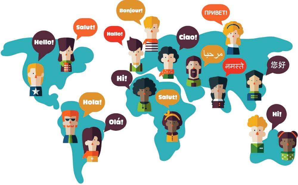 People saying hello in different languages
