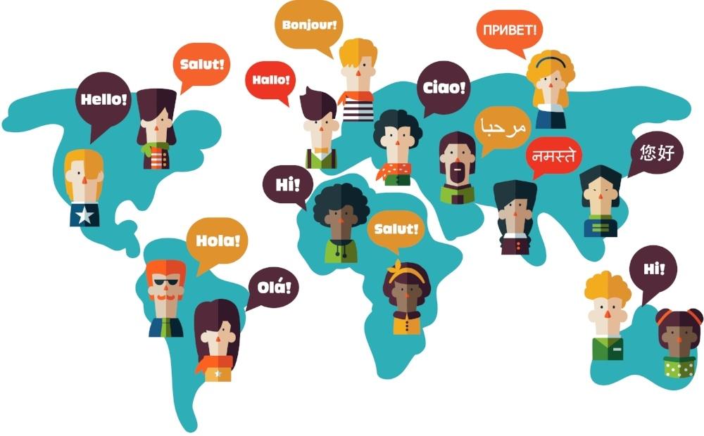 Global delegates connected via cloud-based training software
