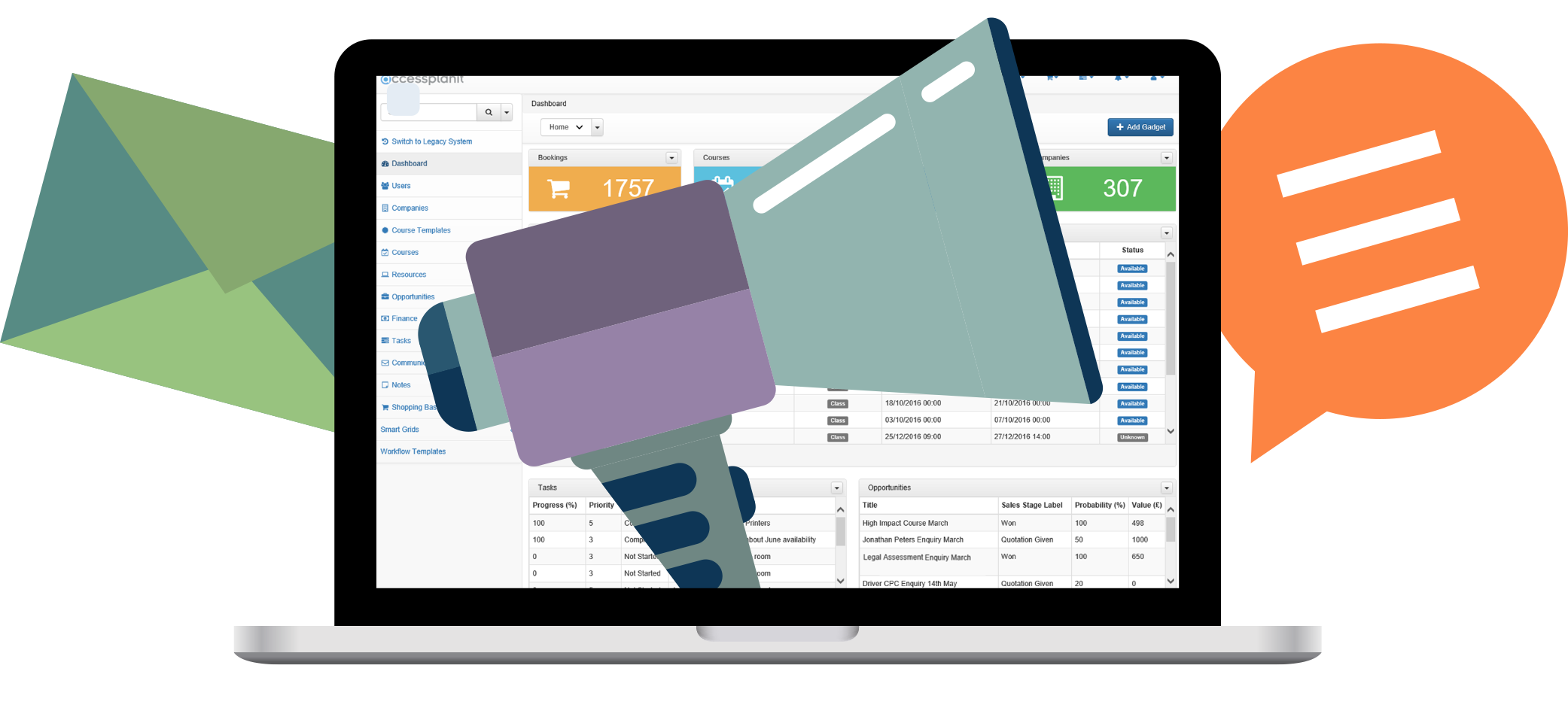 Automate communications with accessplanit training management system