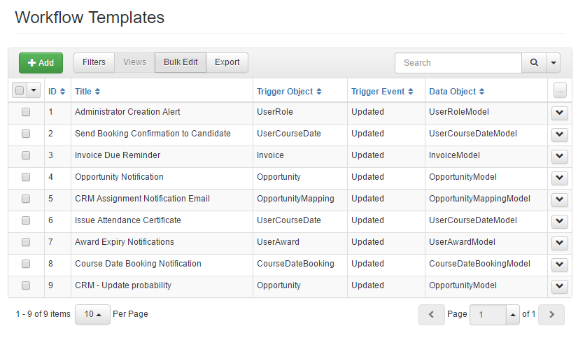 Workflow examples within accessplanit training management software