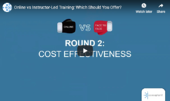 online training vs face to face training webinar cover image