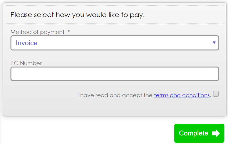 Payment GDPR Tickbox