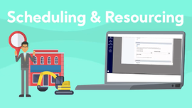 scheduling and resourcing cover graphic