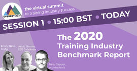2020 training industry benchmark report webinar cover image