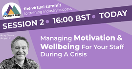managing motivation and wellbeing for your staff during a crisis webinar cover image