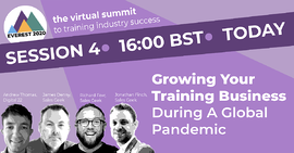 growing your training business during a global pandemic webinar cover image