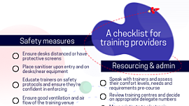 checklist for training providers cover image