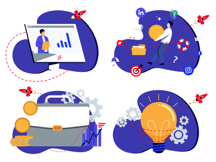 example of accessplanit's new brand illustrations