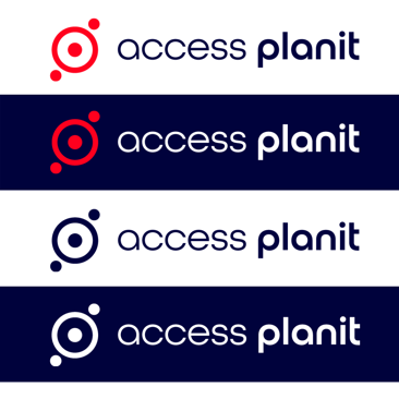 accessplanit's new logo side by side