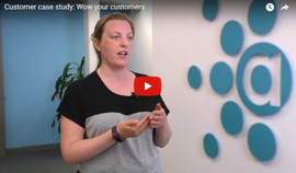 wow your customers video still