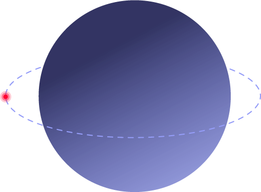 top right planet logo
