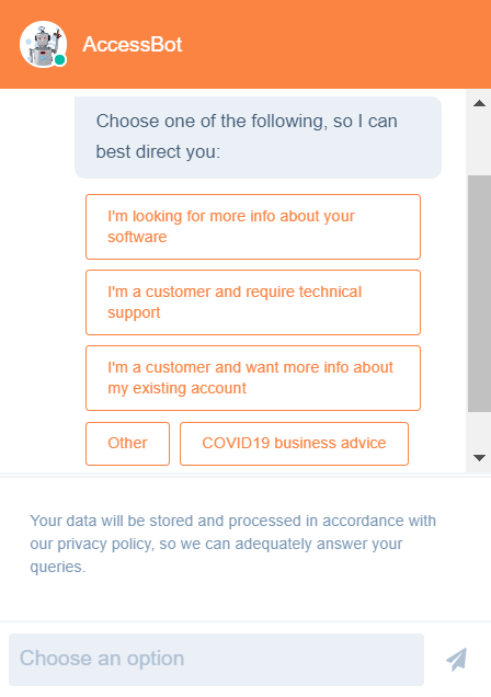 accessplanit chat bot