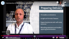 covid-19 and the training industry webinar cover image