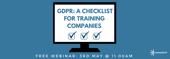 gdpr a checklist for training companies webinar cover image