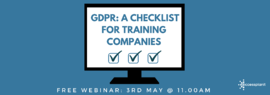 gdpr a checklist for training companies webinar cover image