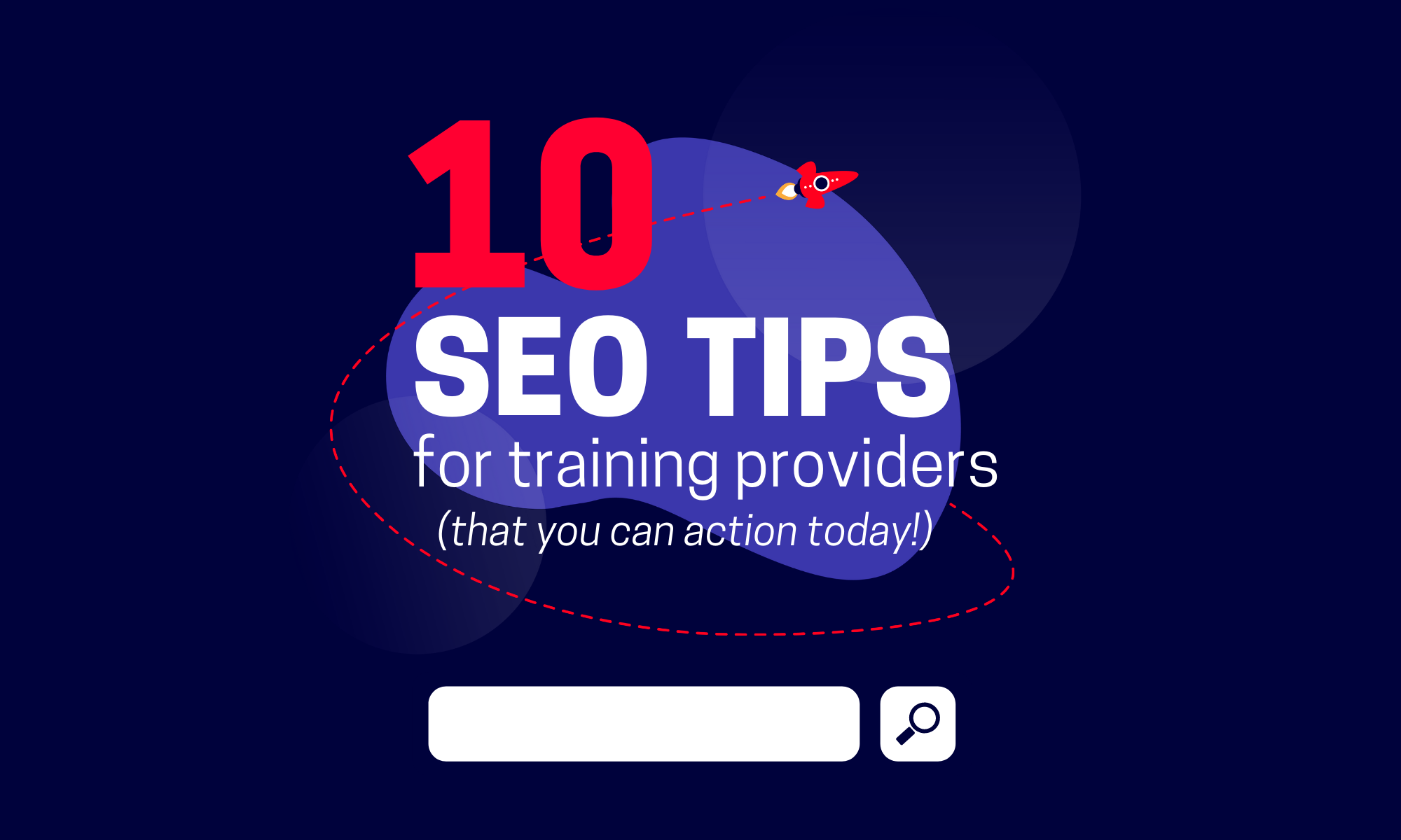 10 seo tips for training providers cover graphic