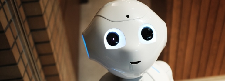 Robot considering difference between artificial intelligence and automated course management software