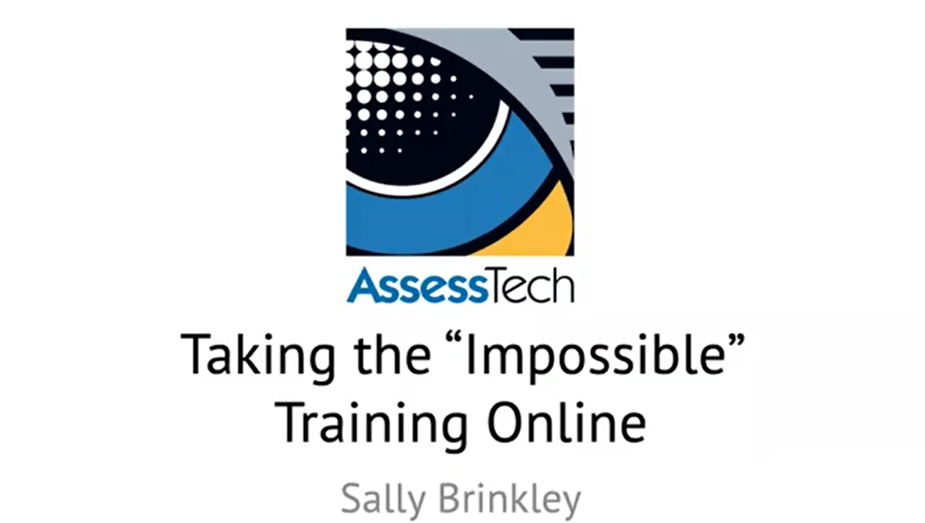 Webinar: Taking the seemingly impossible training online