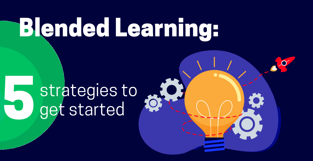 blended learning strategies blog cover graphic