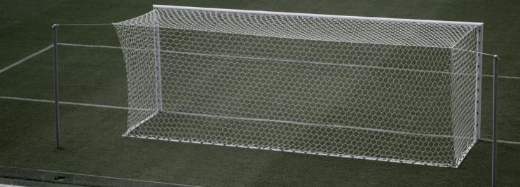 Back of football goals