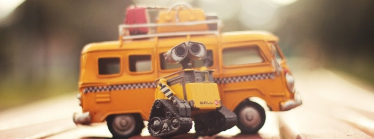 Wall-E with yellow cab