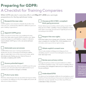 GDPR Checklist for Training Companies: 10 Steps Towards Compliance