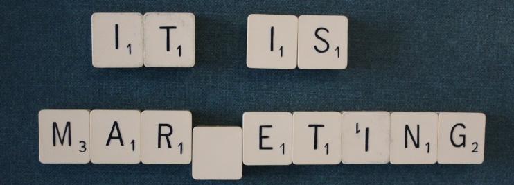 Scrabble tiles marketing