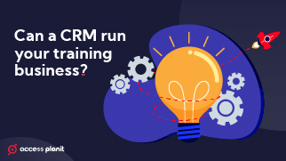 CRM vs training management system front cover