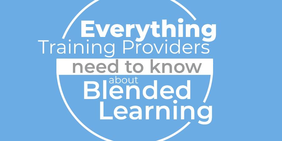 what is blended learning visual diagram